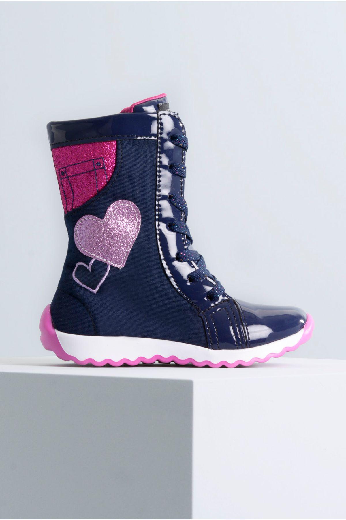 e17bd0f5b43 Bota Infantil Bia Beehappy TEC - MARINHO - Mundial Calçados