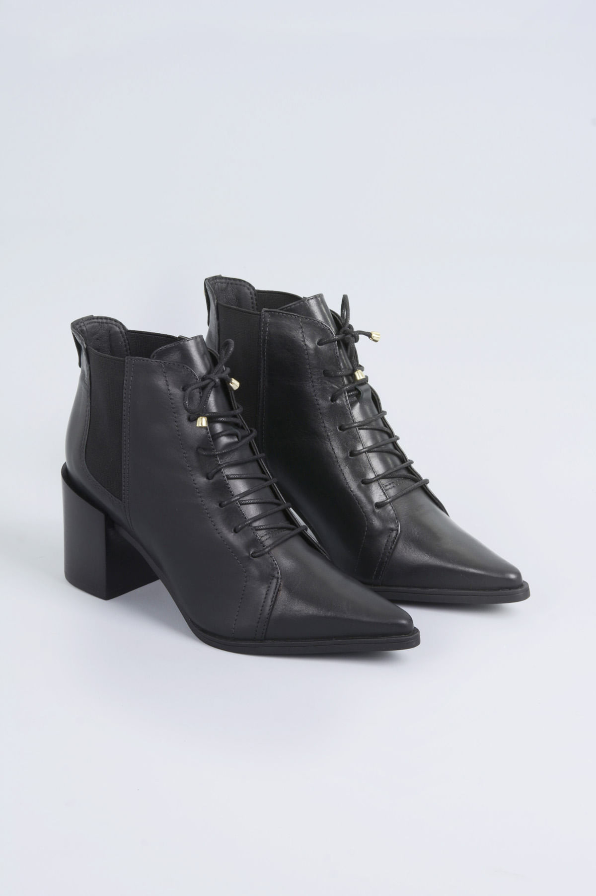 6344a578f6c2c Ankle Boot Salto Alto Aeryn Bottero CR-PRETO - Mundial Calçados
