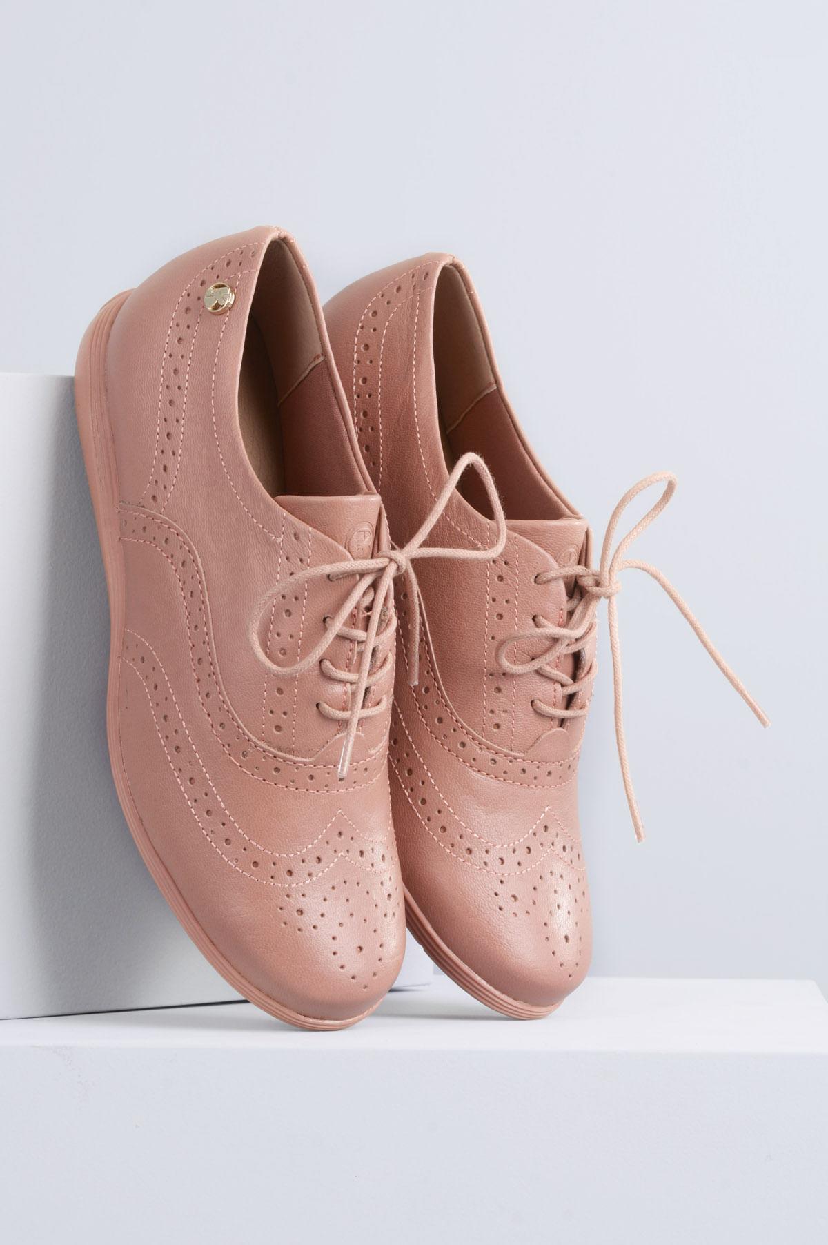 39321c5bb Oxford Feminino Lyra Bottero CR - ROSA - Mundial Calçados
