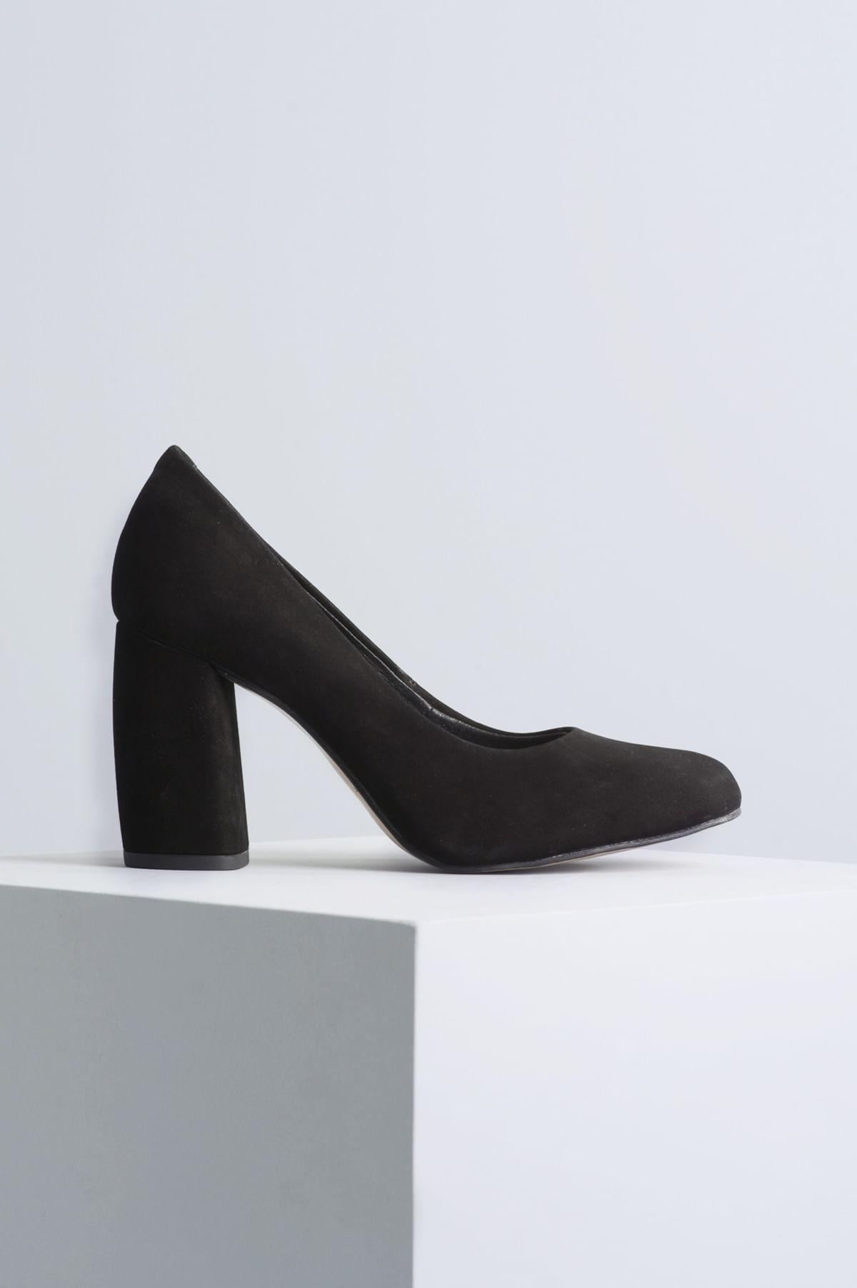 dc2cb5cf456 Sapato Feminino Salto Alto Tulip Mundial NB - PRETO - Mundial Calçados