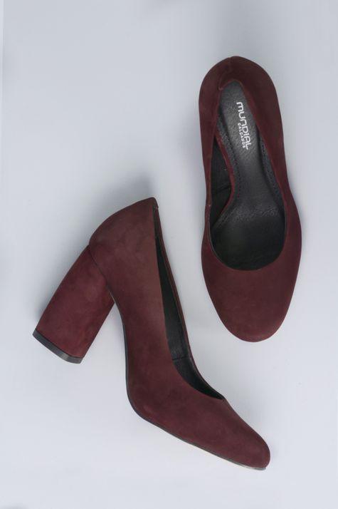 d1d044de200 Sapato Feminino Salto Alto Tulip Mundial NB - VINHO - Mundial Calçados