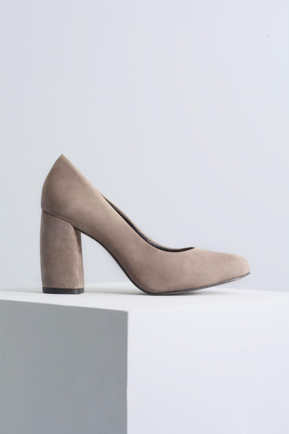 72ce8bc396d Sapato Feminino Salto Alto Tulip Mundial NB-CINZA - Mundial Calçados