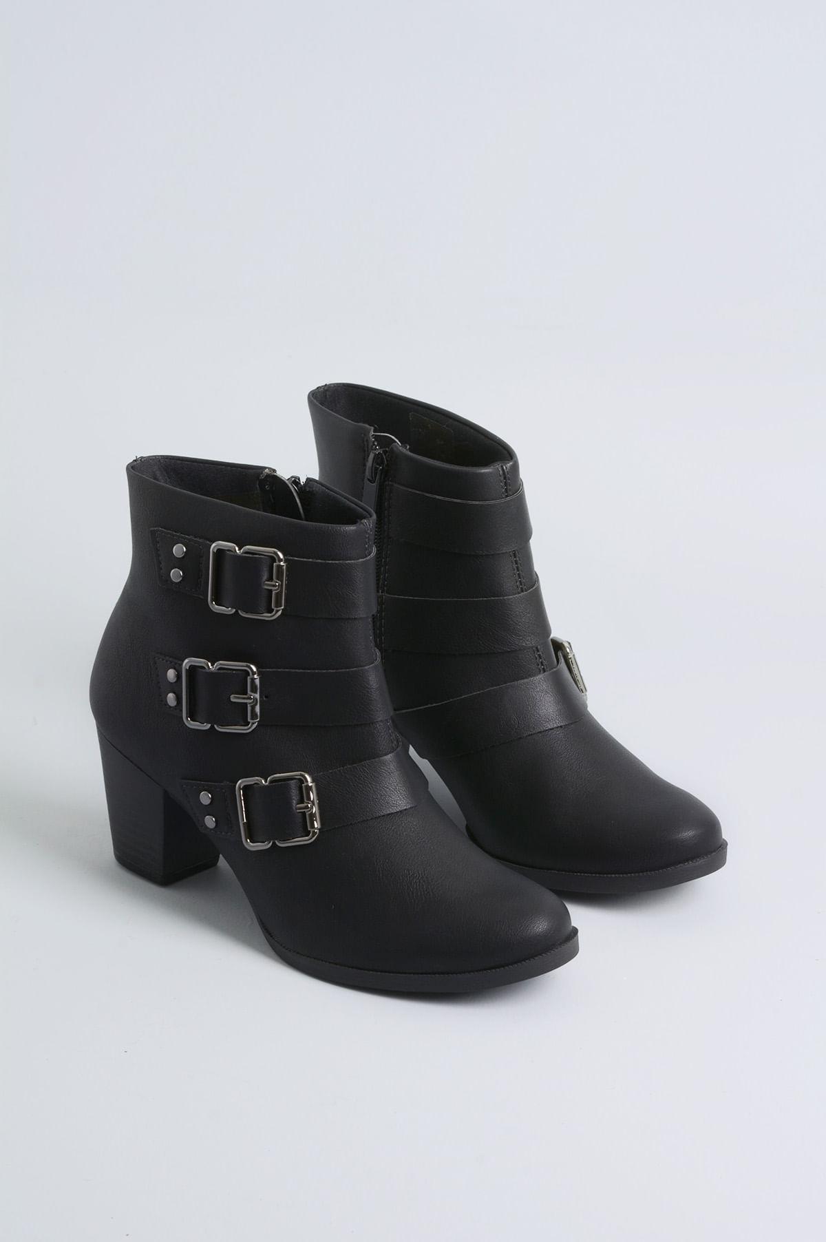 7bf6550dce Ankle Boot Salto Médio Winter Dakota SINT - PRETO - Mundial Calçados