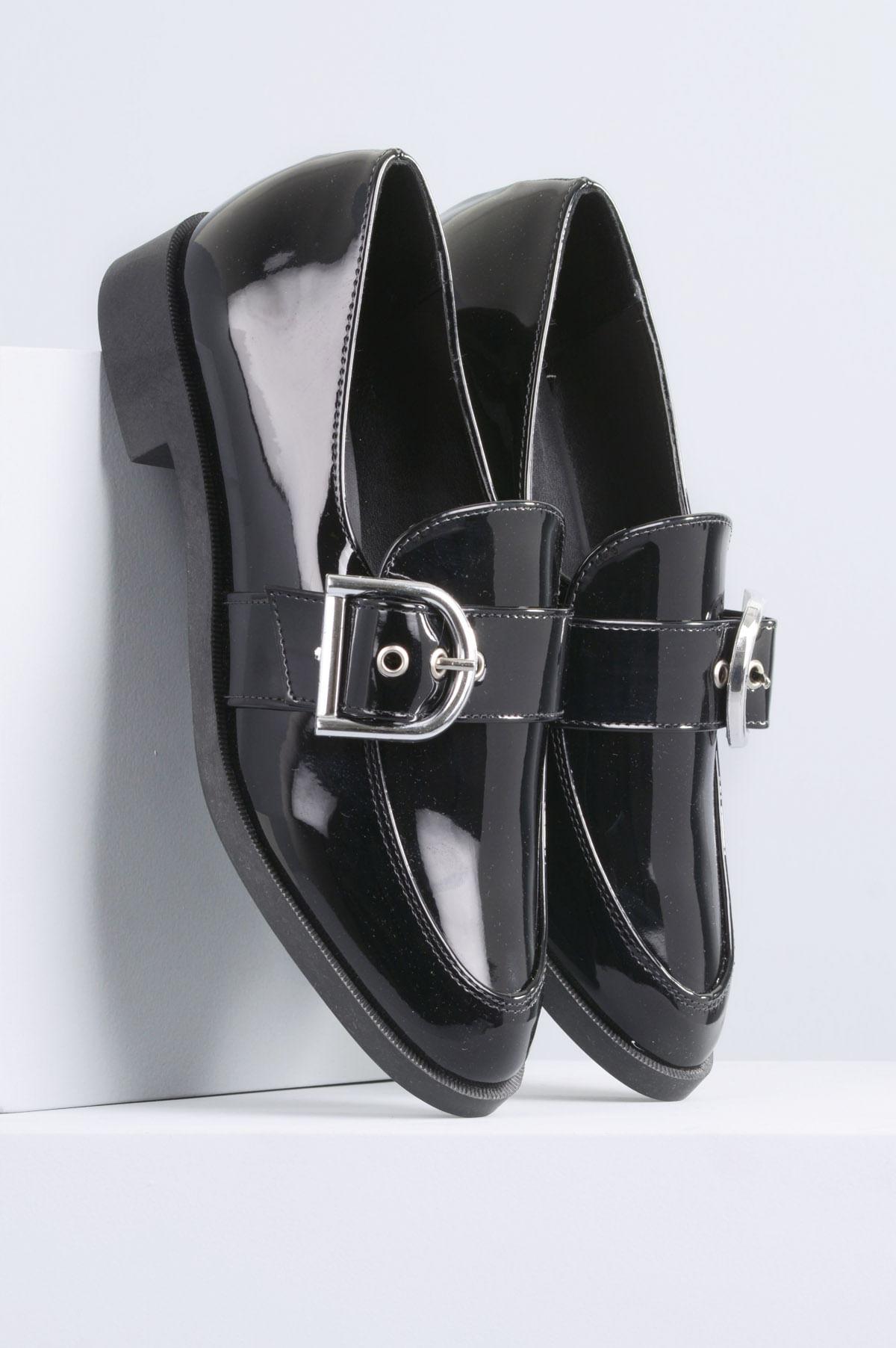 376e63fed Sapato Feminino Salto Baixo Ayala Mundial VERNIZ PRETO - Mundial ...