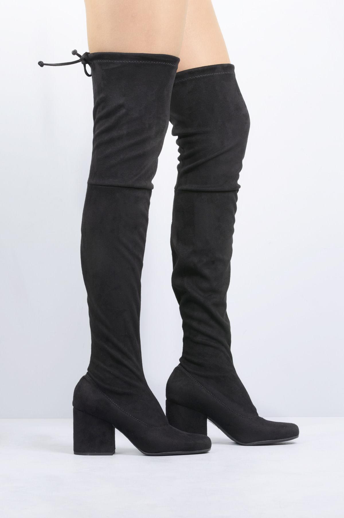 274bcef70d0 Bota Feminina Salto Alto Blair Mundial CAM - PRETO - Mundial Calçados
