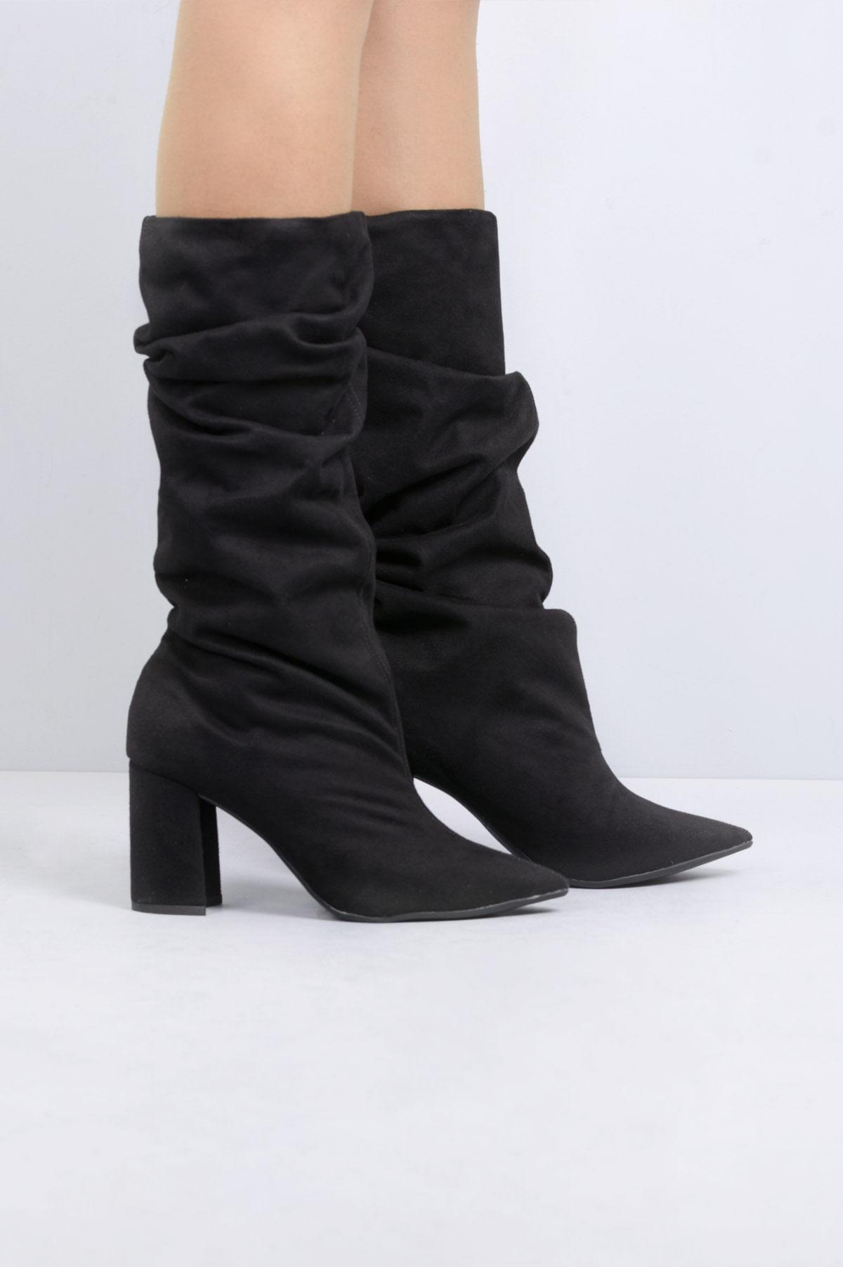 87735d3ce75 Bota Feminina Salto Alto Beatrice Mundial CAM - PRETO - Mundial Calçados