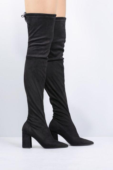 416173ac542 Bota Feminina Salto Alto Any Mundial CAM - PRETO - Mundial Calçados