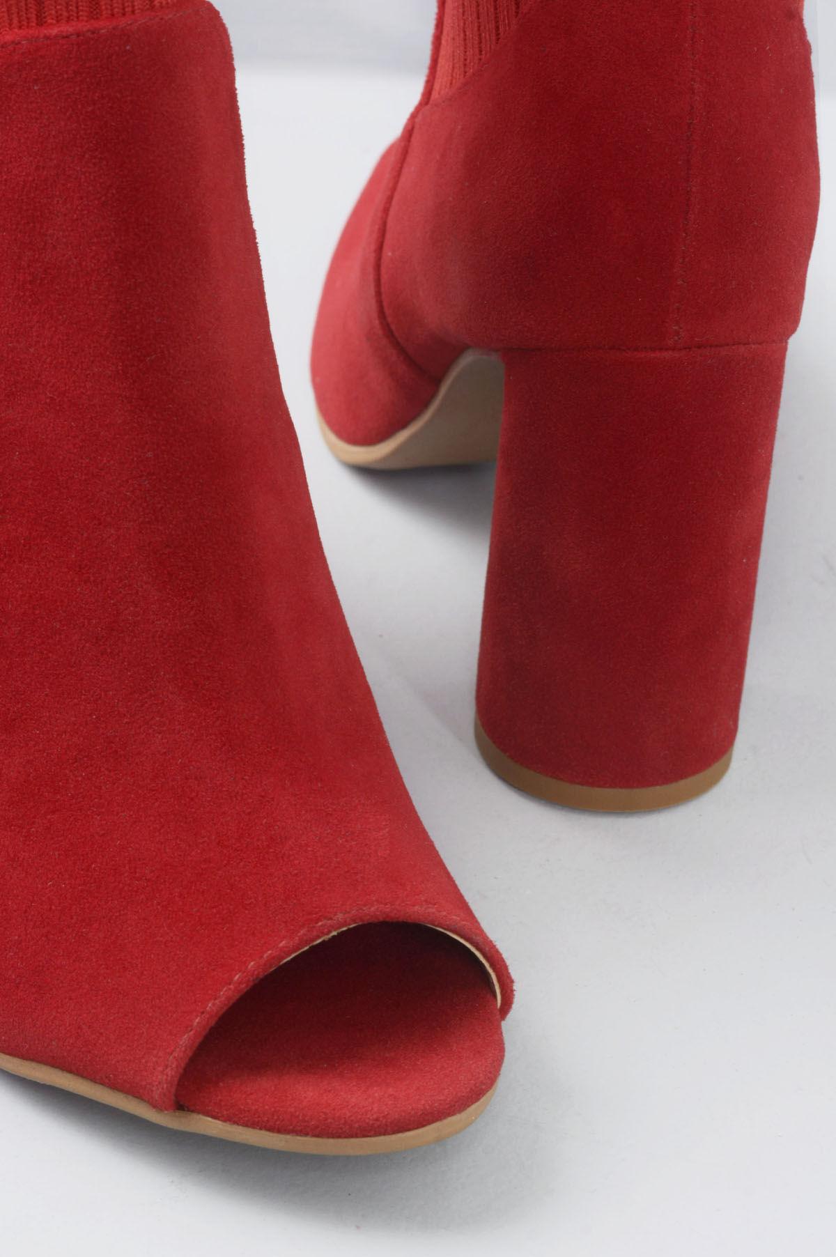 1370e0e3a7 Open Boot Salto Alto Rihane Mundial CAM - VERMELHO - Mundial Calçados