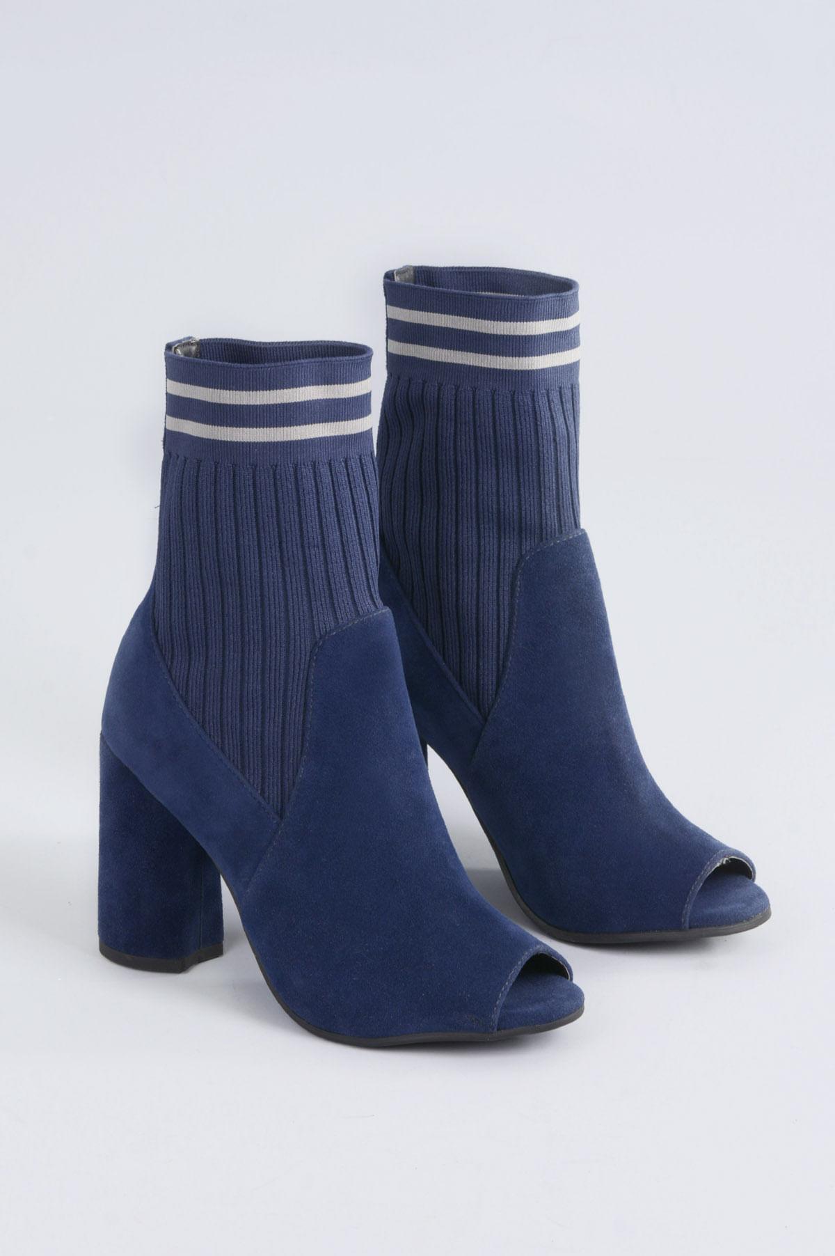 d6cd5cd133 Open Boot Salto Alto Rihane Mundial CAM - MARINHO - Mundial Calçados