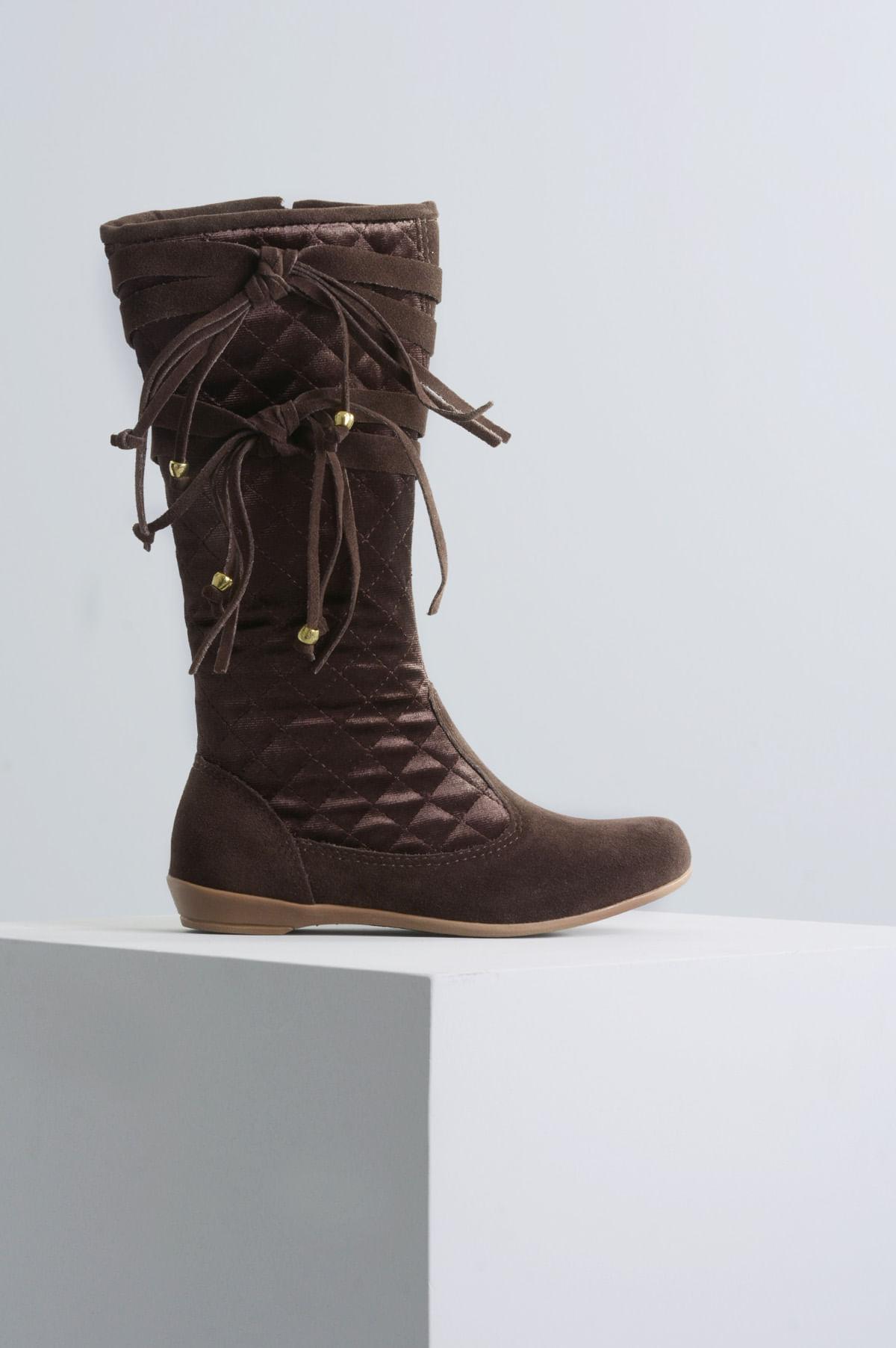 977e2439a Bota Infantil Daniele Mundial CAM MARROM - Mundial Calçados