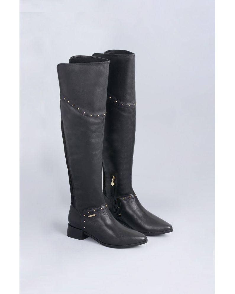 Bota Feminina Cano Longo Morgan Verofatto CR-PRETO - Mundial Calçados a2c519e382