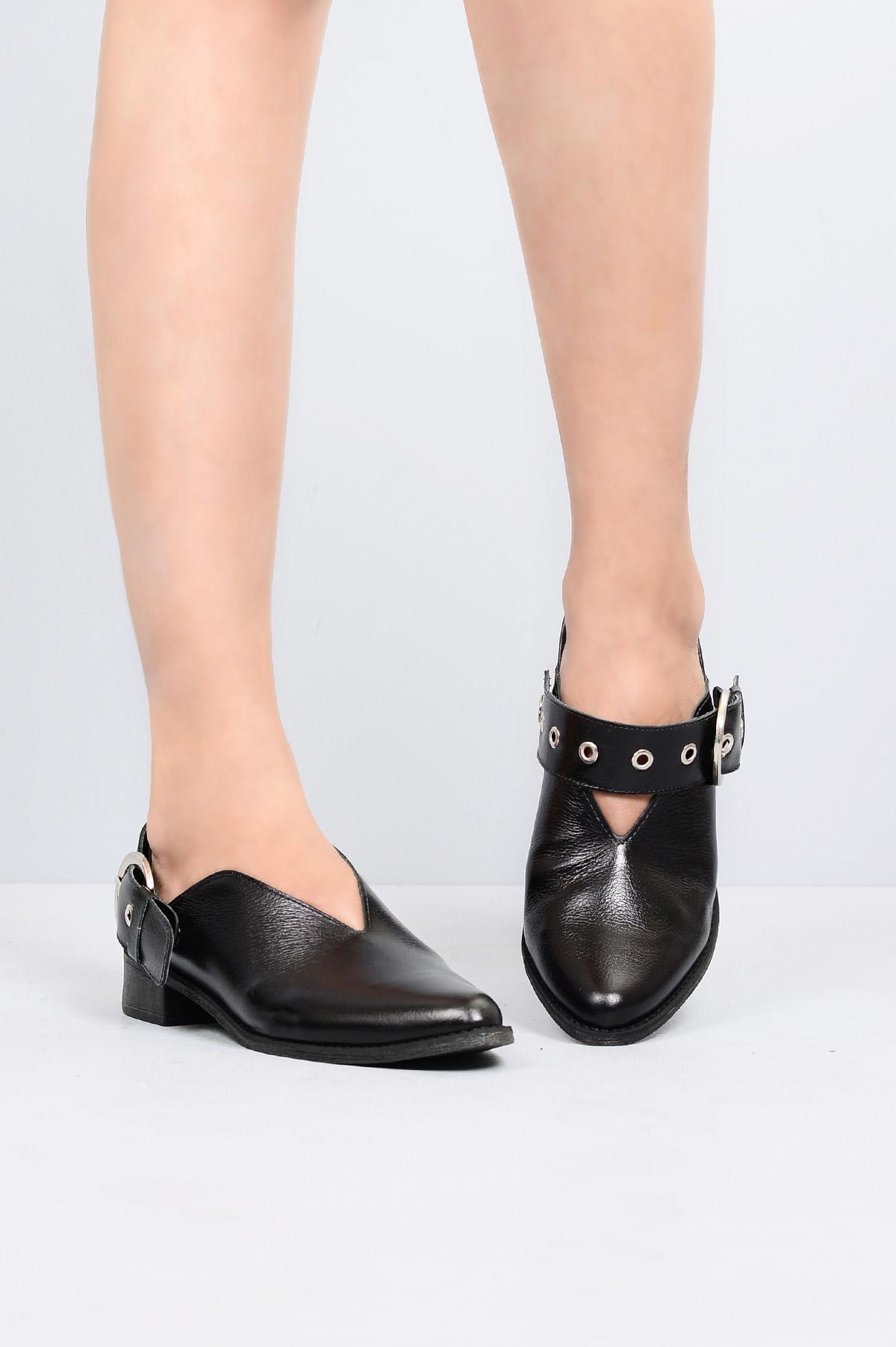 2689a7eb3 Sapato Feminino Salto Baixo Floter Mundial CR-PRETO - Mundial Calçados