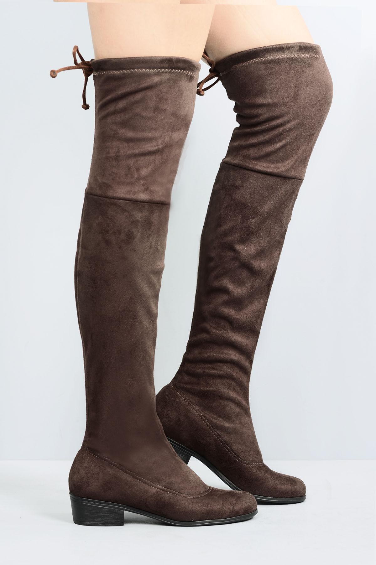 d24220a65 Bota Feminina Salto Baixo Faith Mundial CAM - CAFE - Mundial Calçados