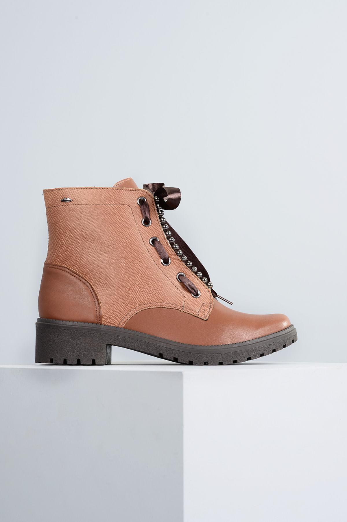 7720024c5e Bota Coturno Telmy Dakota SINT - WHISKY - Mundial Calçados