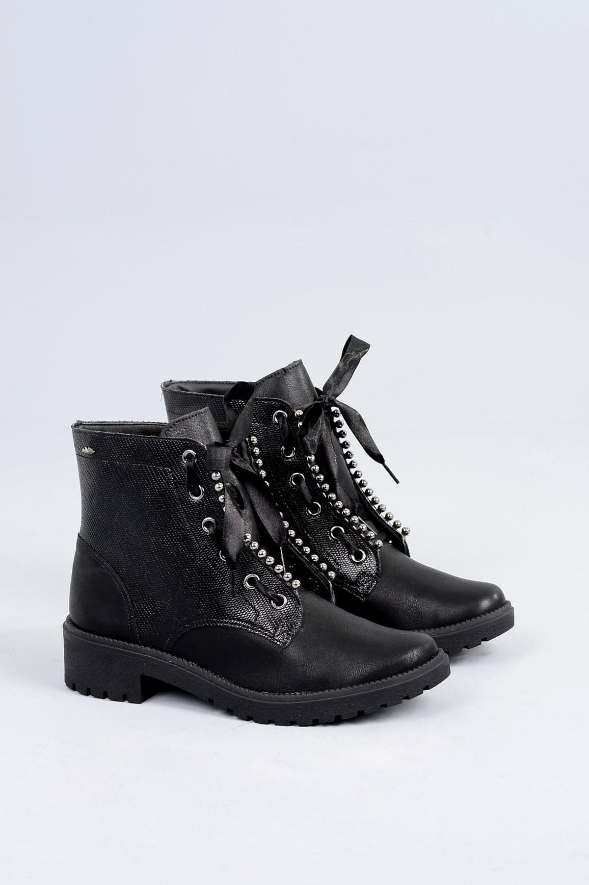 d995d0ca8a Bota Coturno Telmy Dakota SINT - PRETO - Mundial Calçados