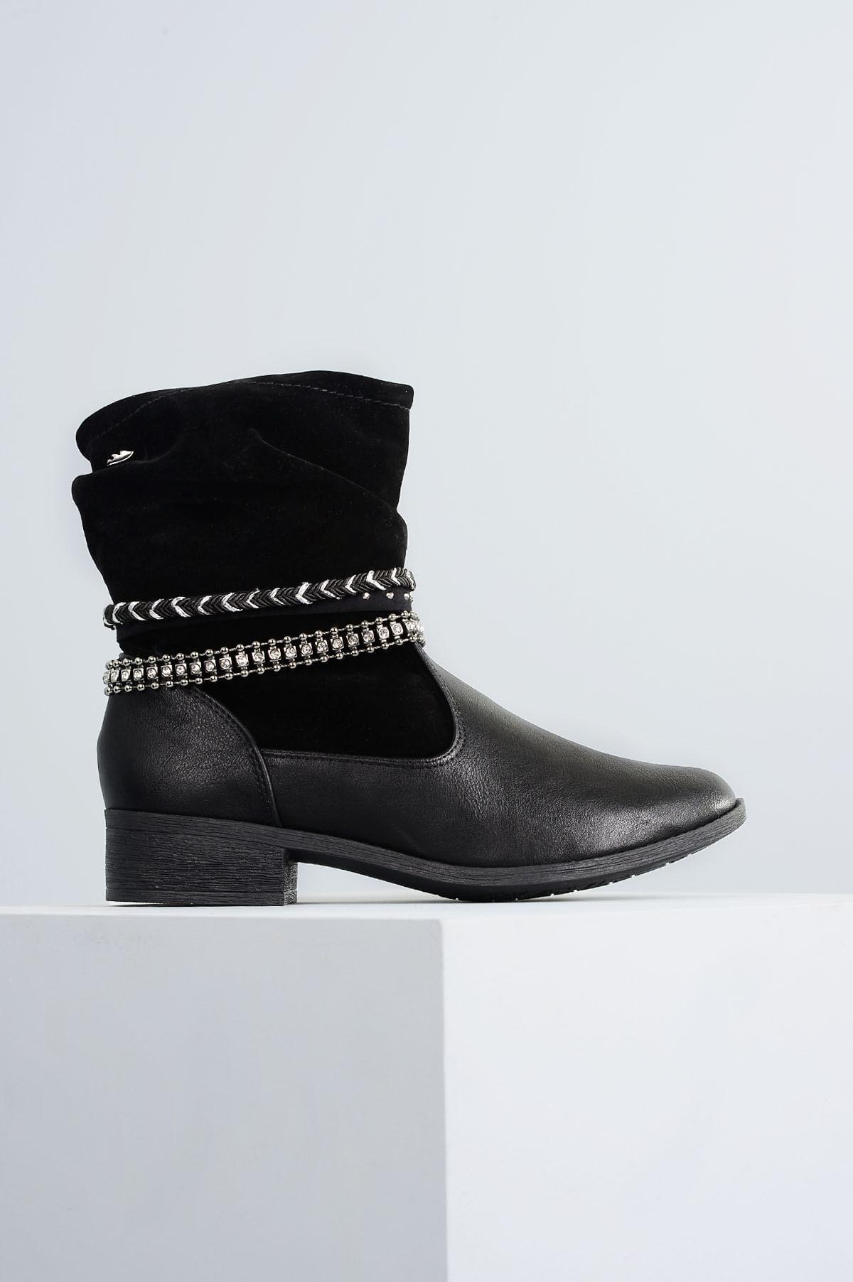 347292e57c Ankle Boot Feminino Topy Dakota SINT - PRETO - Mundial Calçados