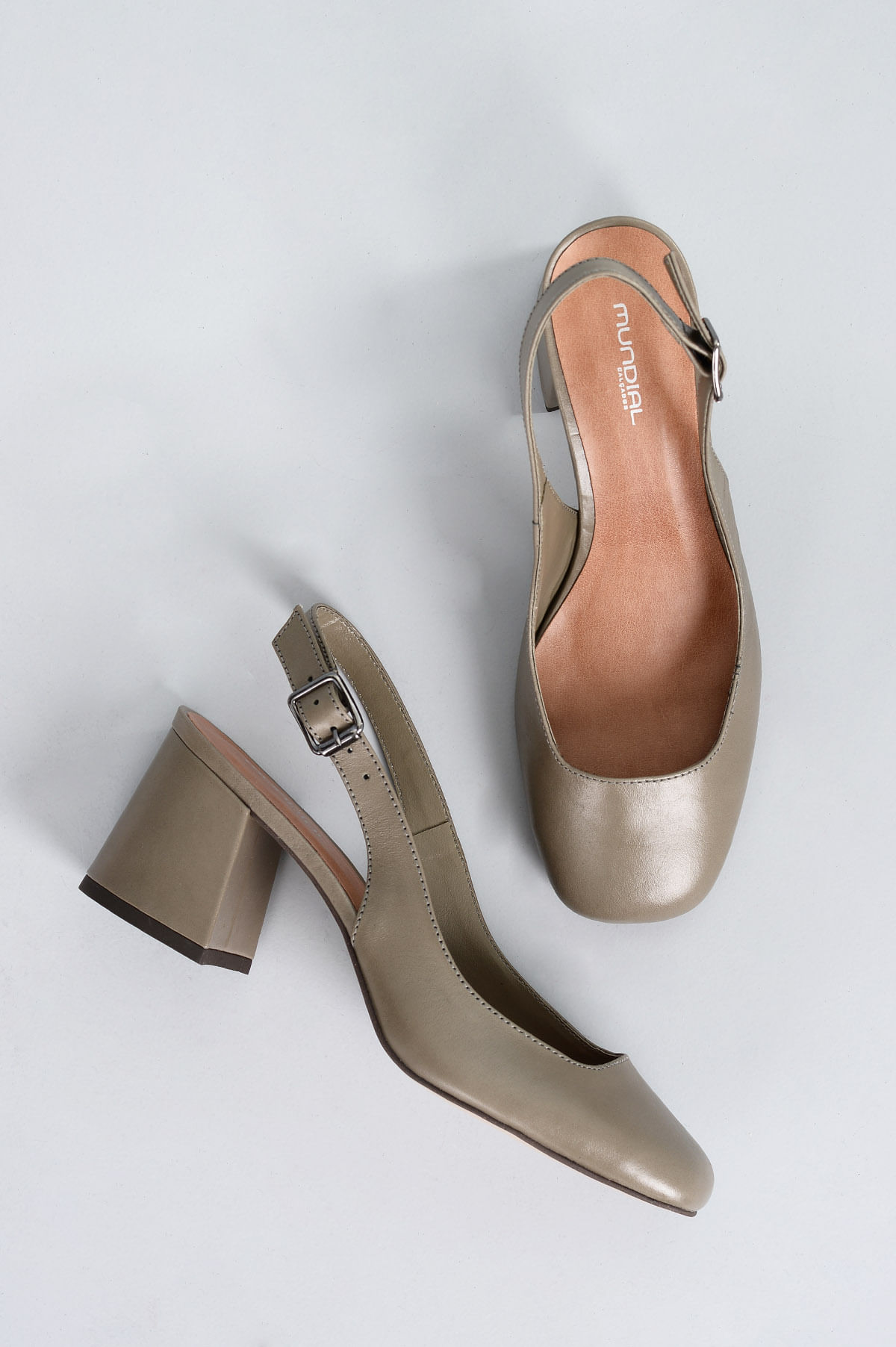 f7ddb84b0 Sapato Feminino Salto Alto Enyd Mundial CR-CINZA - Mundial Calçados