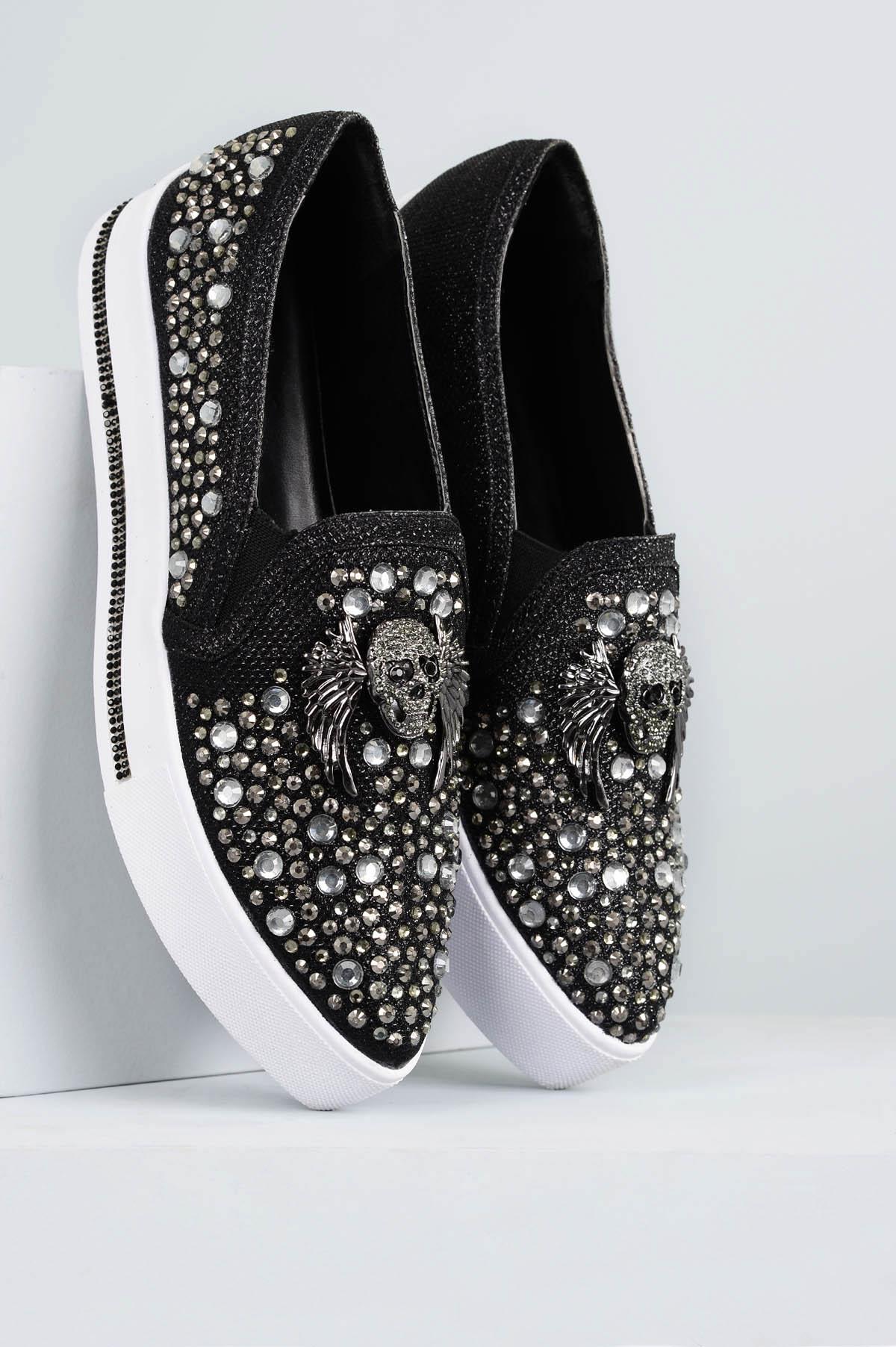 7c555f24a6 Slipper Feminino Caveira Mundial DIVERSOS - PRETO - Mundial Calçados