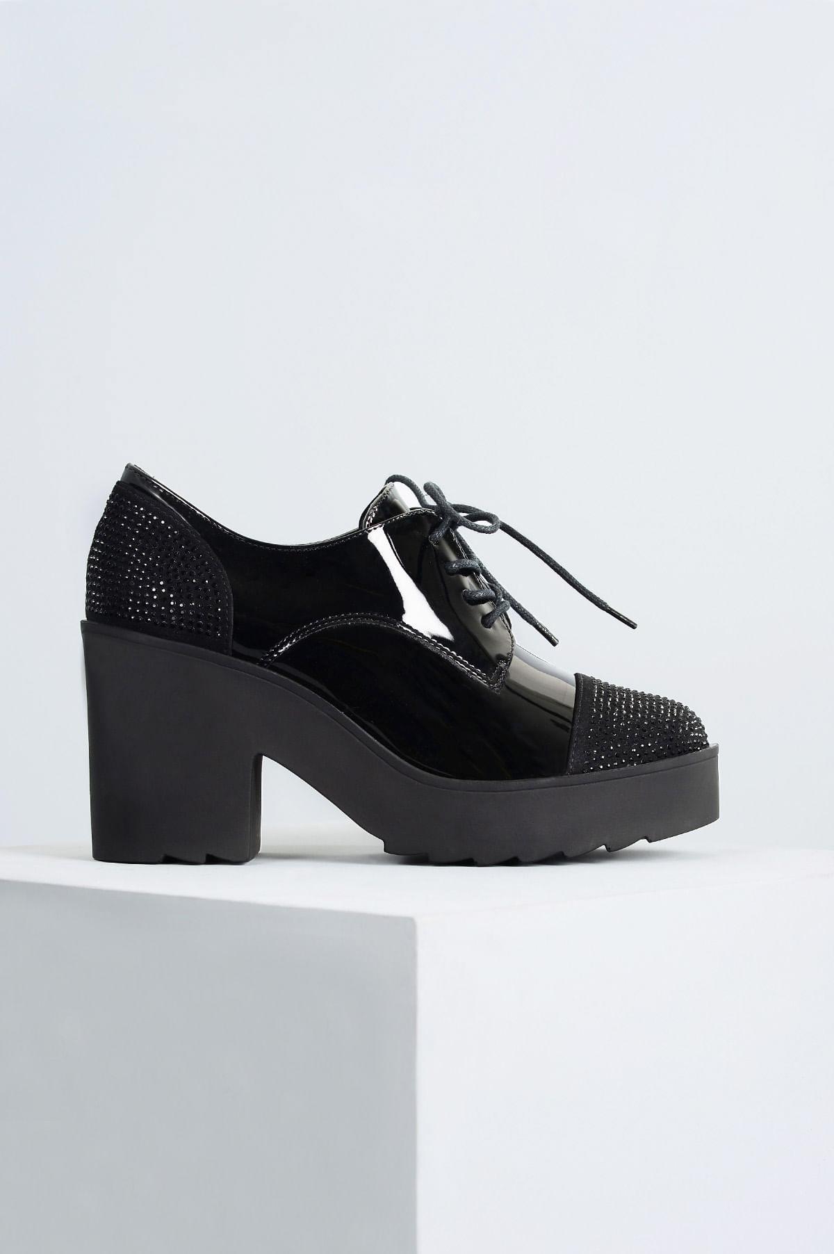 ae077ff86 Oxford Feminino Anabely Mundial VERNIZ PRETO - Mundial Calçados