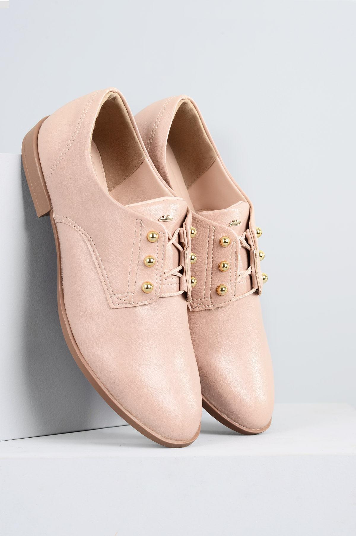b4c652e23 Oxford Feminino Glacy Dakota SINT - NUDE - Mundial Calçados