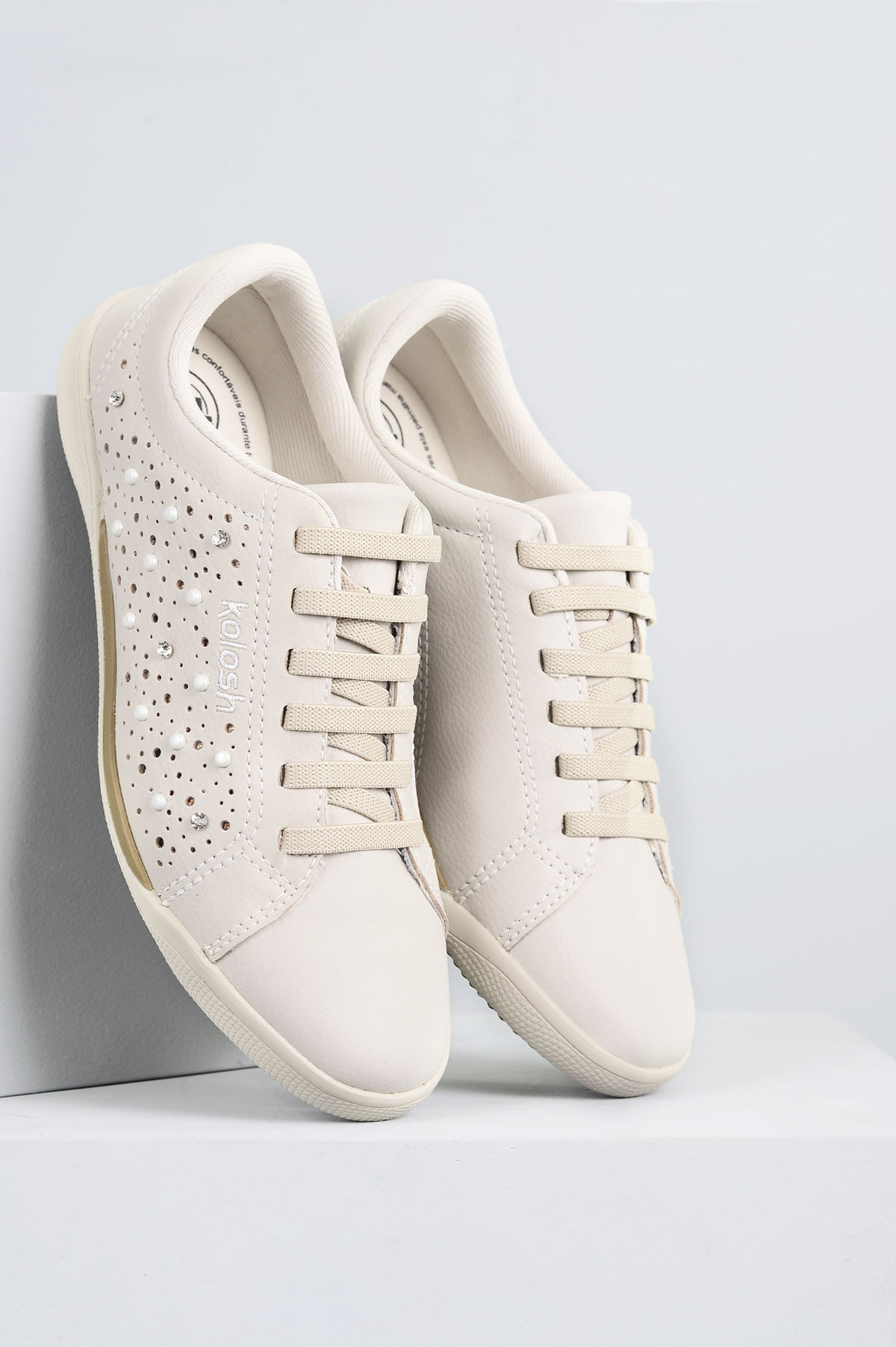 94ab06871 Tênis Feminino Hades Kolosh SINT- MARFIM - Mundial Calçados