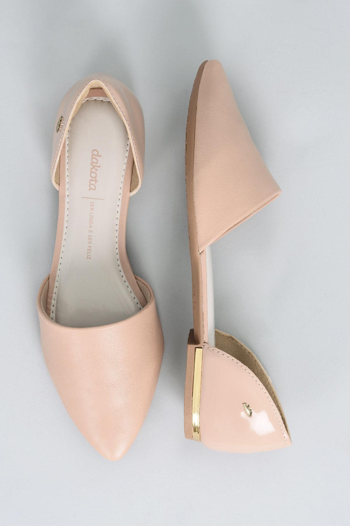 97c272ee07 Sapatilha Feminina Mathilda Dakota SINT - NUDE - Mundial Calçados
