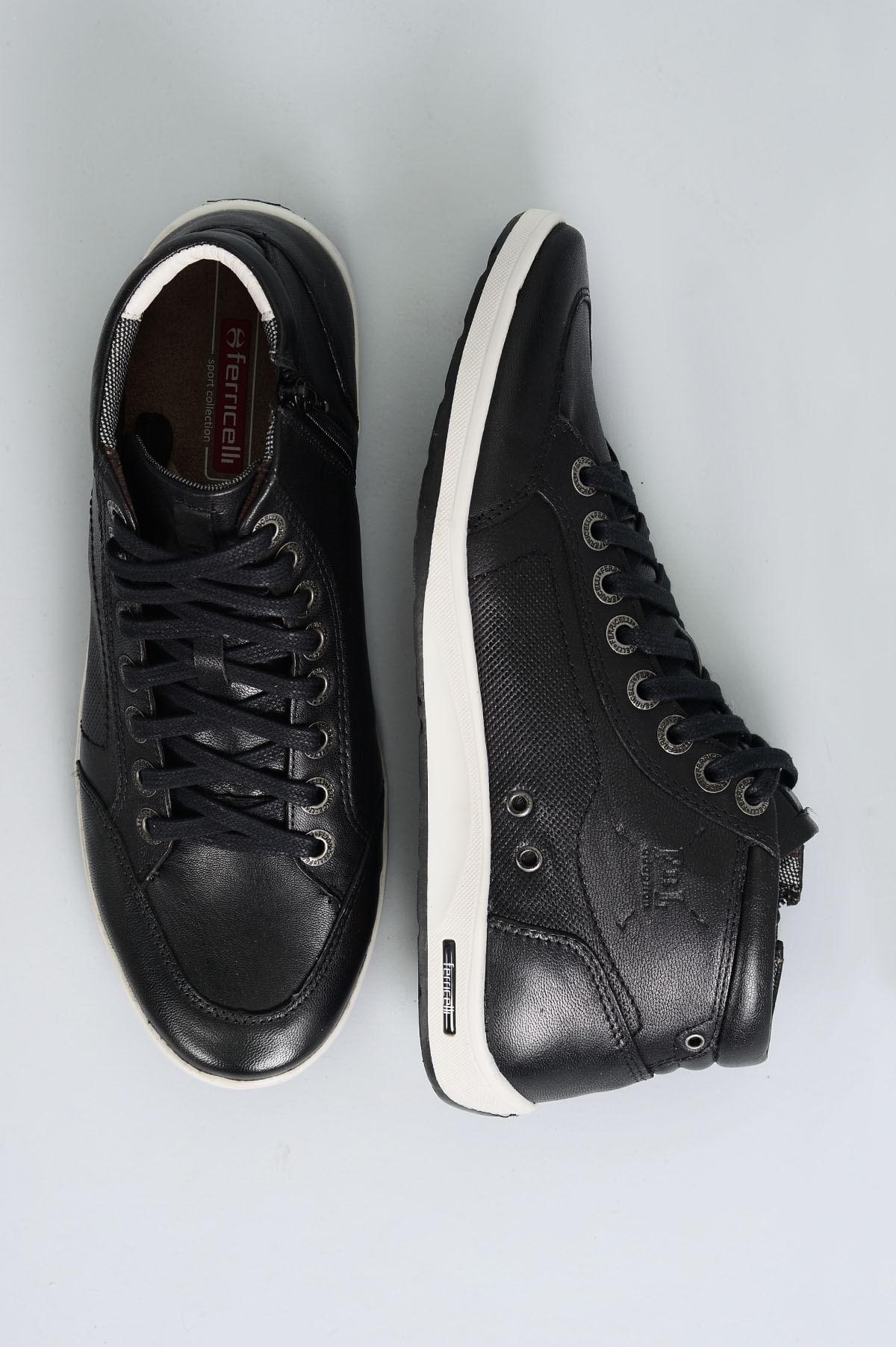 8d323ceac5239 Sapatênis Masculino Ferricelli Diogo CR-PRETO - Mundial Calçados