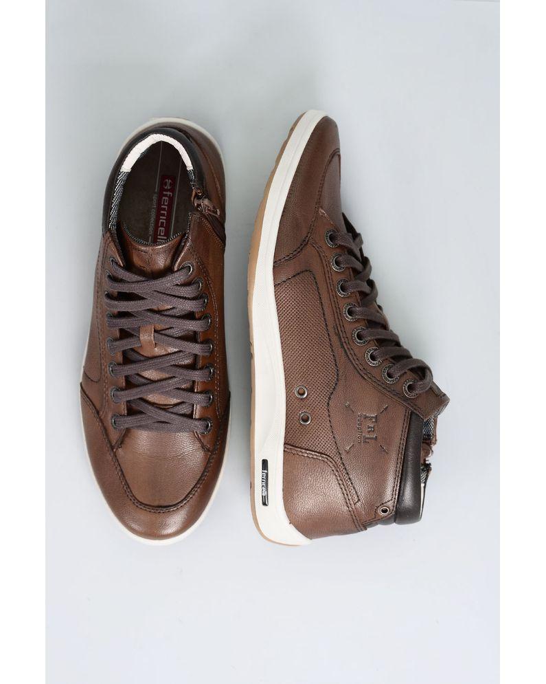 2b5641ae1bfa5 Sapatênis Masculino Ferricelli Diogo CR-CAPPUCCINO - Mundial Calçados