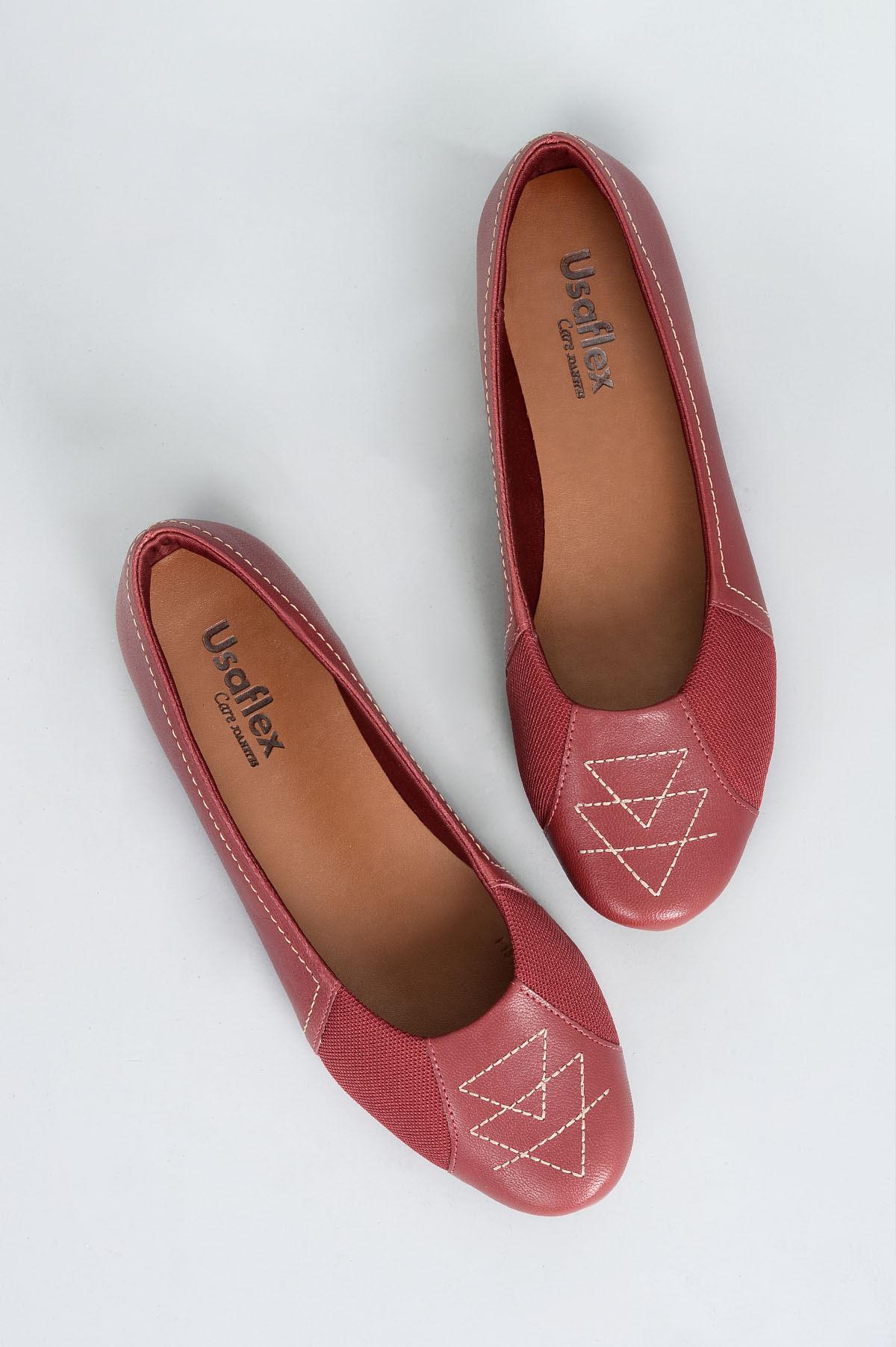 5c87db3fc6 Sapatilha Feminina Siena Usaflex CR-VERMELHO - Mundial Calçados