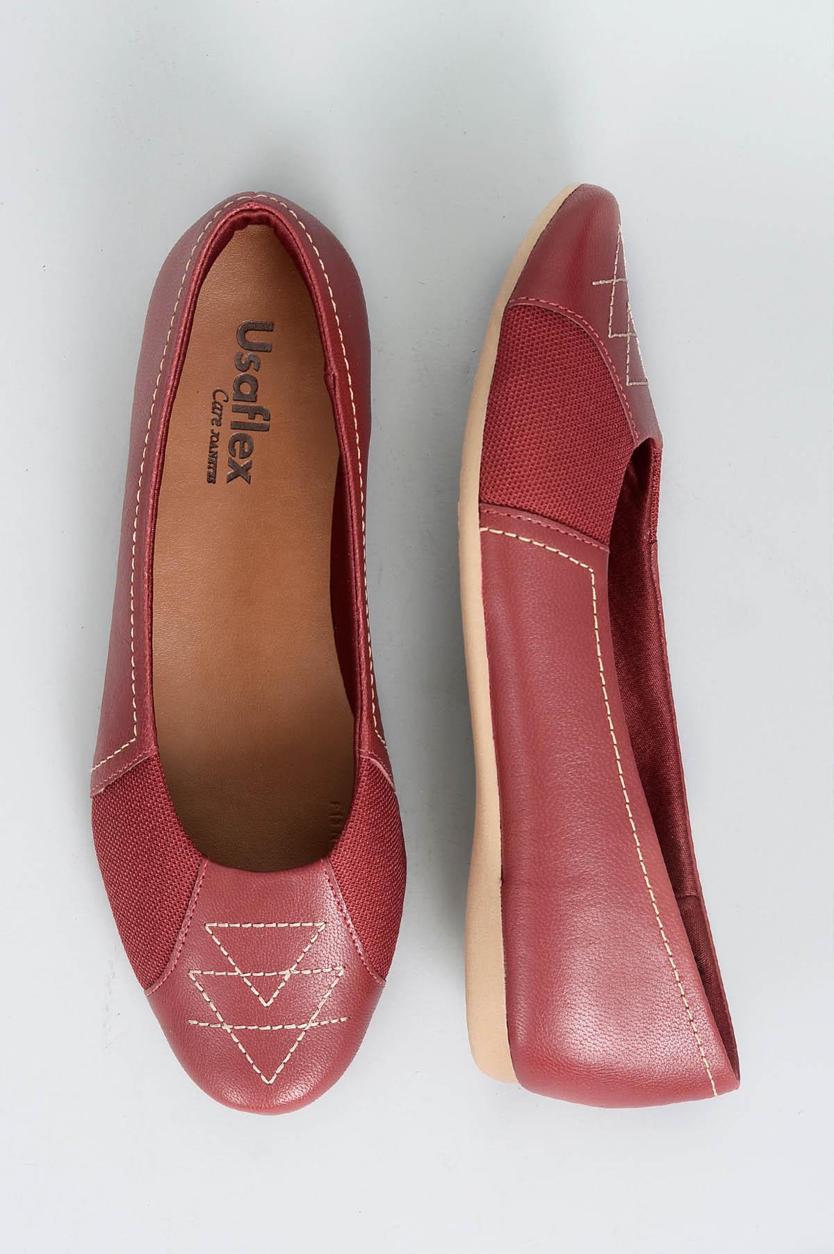 497b5acf59bbd Sapatilha Feminina Siena Usaflex CR-VERMELHO - Mundial Calçados