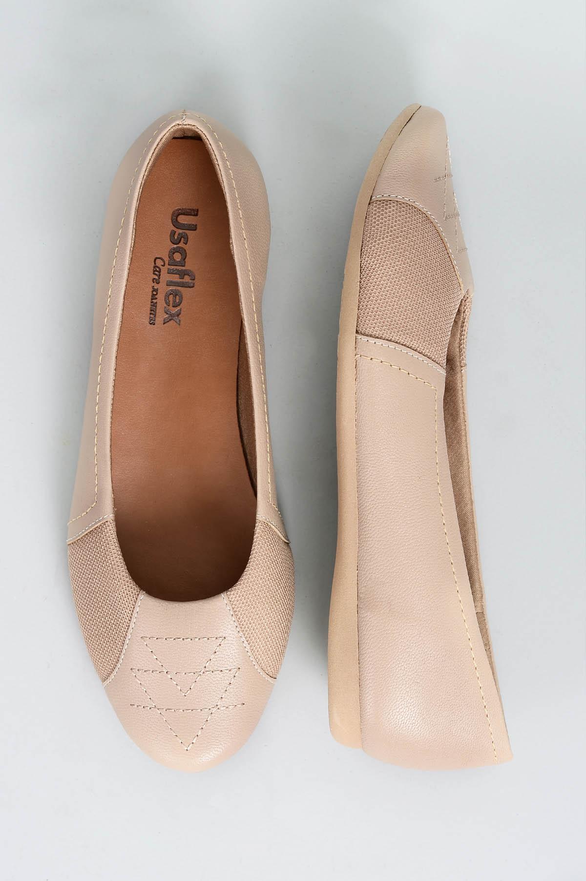 36375d7f39 Sapatilha Feminina Siena Usaflex CR - BEGE - Mundial Calçados