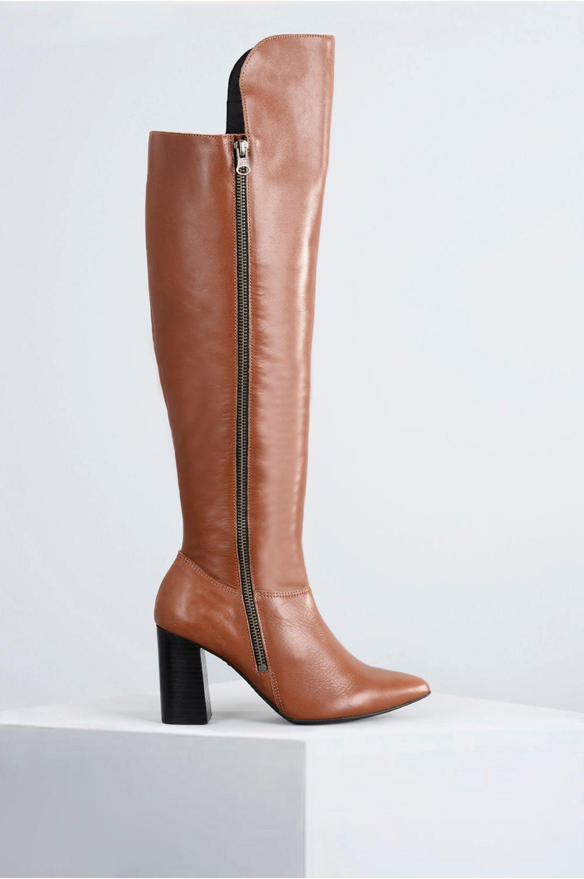 e18d2d3b7 Bota Feminina Cano Longo Shazy Mundial CR-CARAMELO - Mundial Calçados
