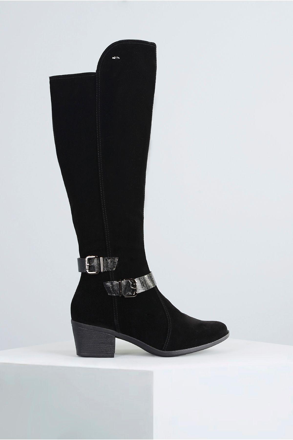 ad97de592e Bota Feminina Salto Médio Mondy Dakota NB - PRETO - Mundial Calçados