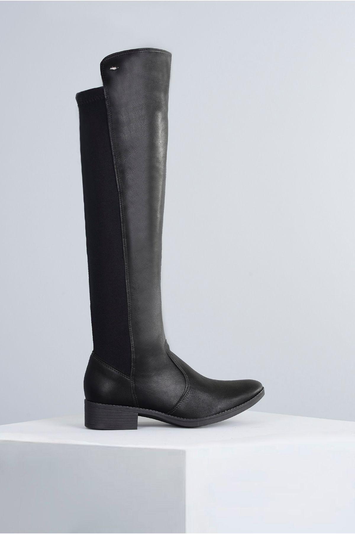 30a1788e6f Bota Feminina Salto Baixo Medly Dakota SINT - PRETO - Mundial Calçados