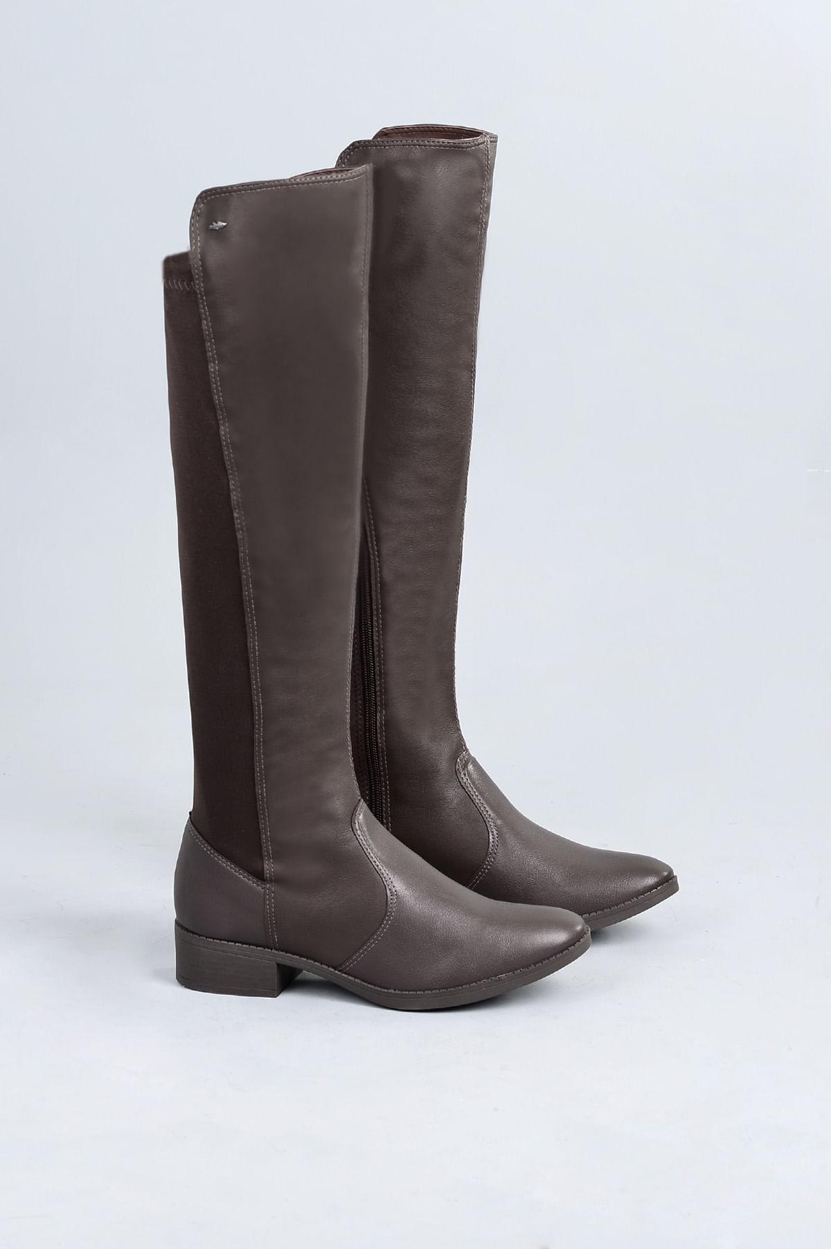 35abbb09b Bota Feminina Salto Baixo Medly Dakota SINT - CAFE - Mundial Calçados