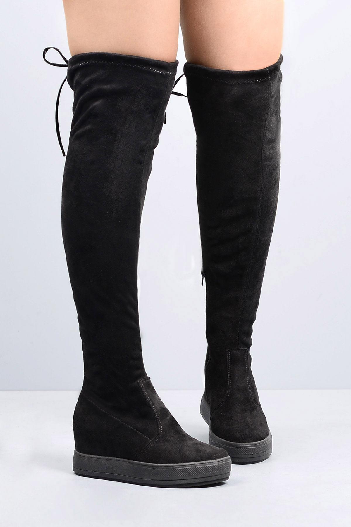 5dcec21ea4 Bota Feminina Cano Alto Abgail Mundial CAM - PRETO - Mundial Calçados