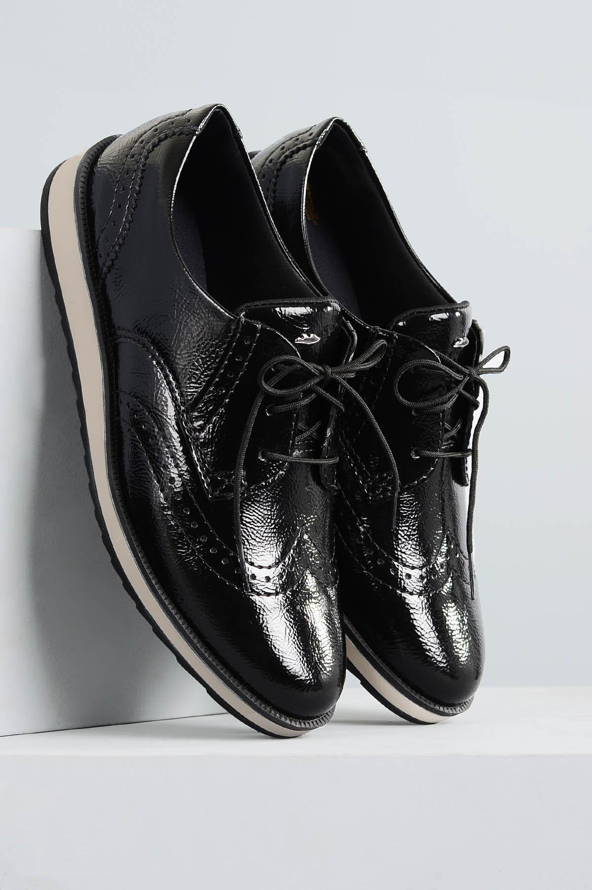 a6caac1645 Oxford Feminino Dilan Dakota VERNIZ PRETO - Mundial Calçados