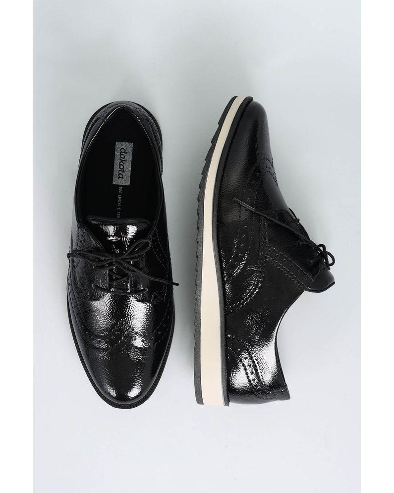 e993f627b9 Oxford Feminino Dilan Dakota VERNIZ PRETO - Mundial Calçados