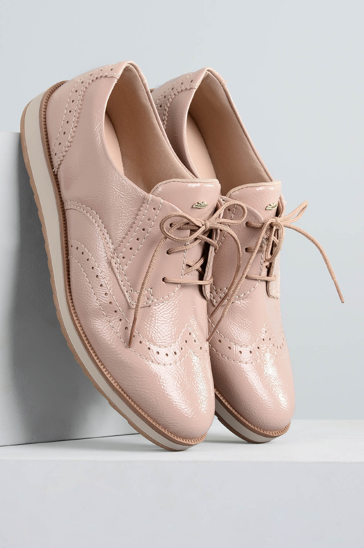 21b24b1211 Oxford Feminino Dilan Dakota VERNIZ - NUDE - Mundial Calçados