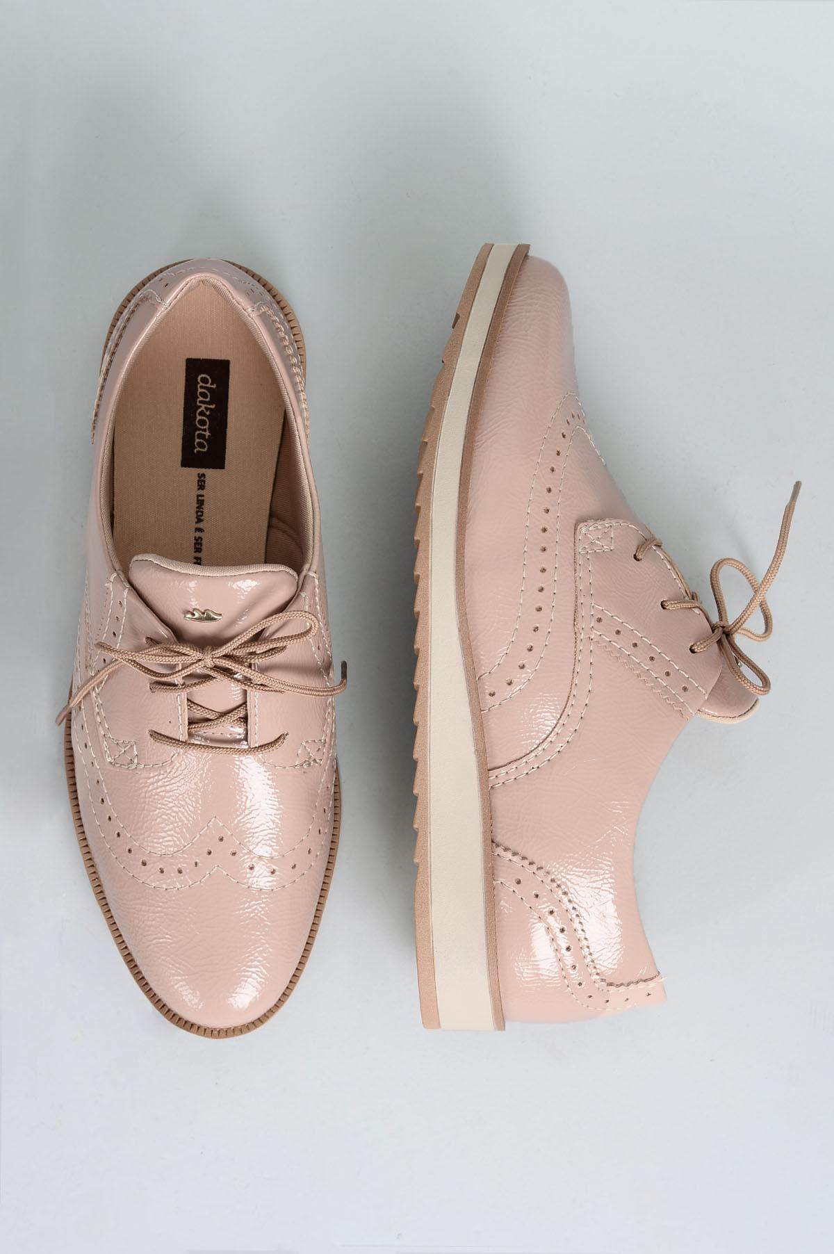 5c4c6290f Oxford Feminino Dilan Dakota VERNIZ - NUDE - Mundial Calçados