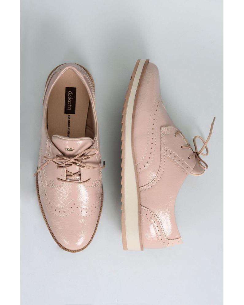f5dcf2a7ef Oxford Feminino Dilan Dakota VERNIZ - NUDE - Mundial Calçados