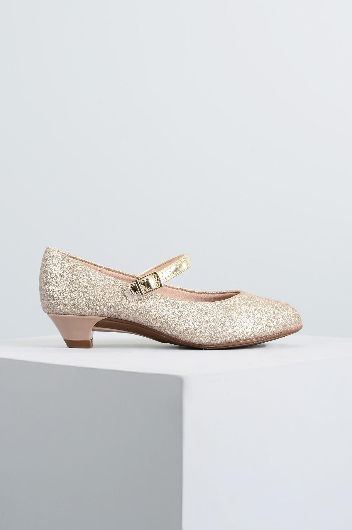 7344697d8f Sapato Infantil Molekinha Poly DIVERSOS - DOURADO - Mundial Calçados