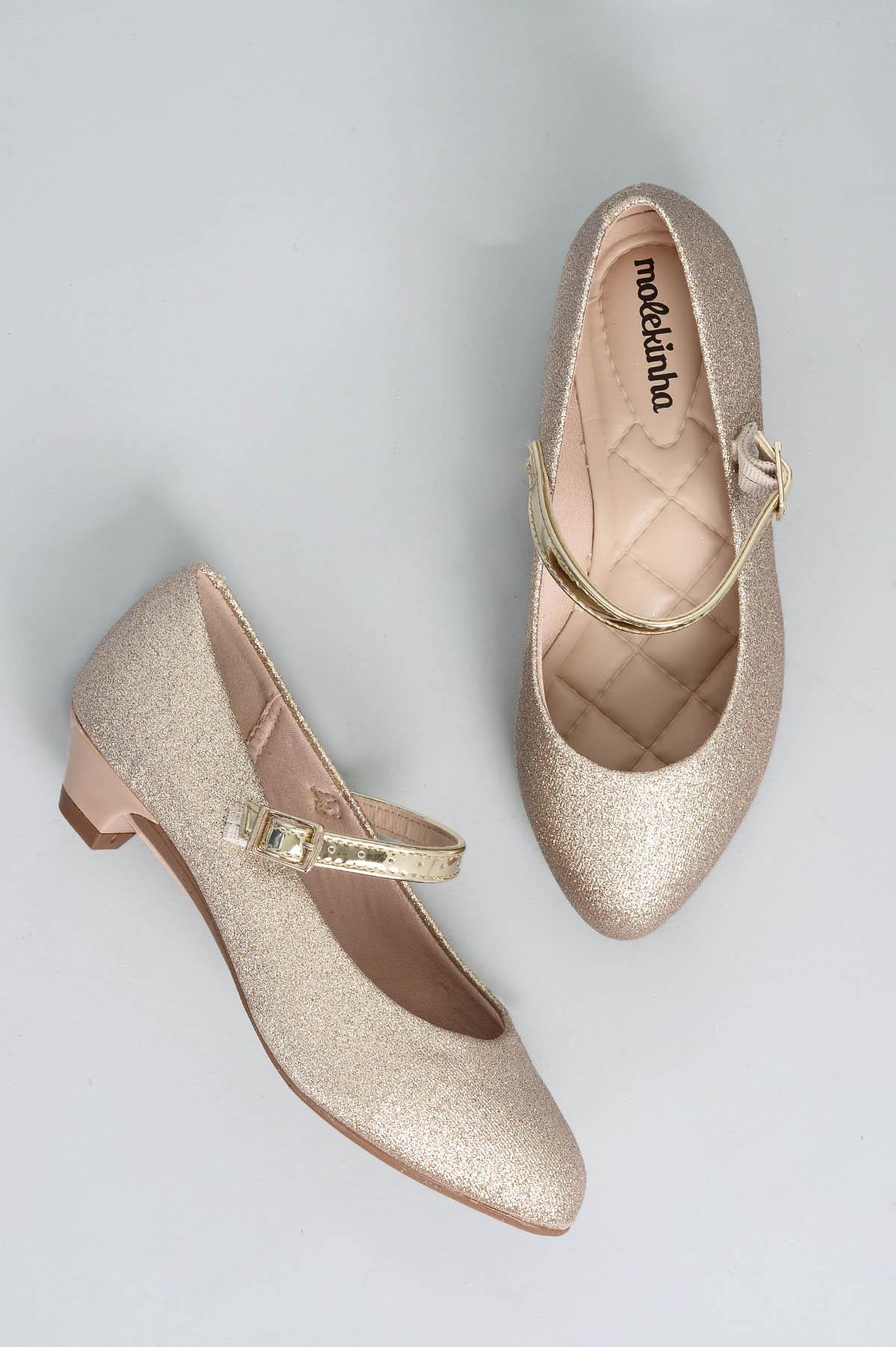 ebff55bfc Sapato Infantil Molekinha Poly DIVERSOS - DOURADO - Mundial Calçados