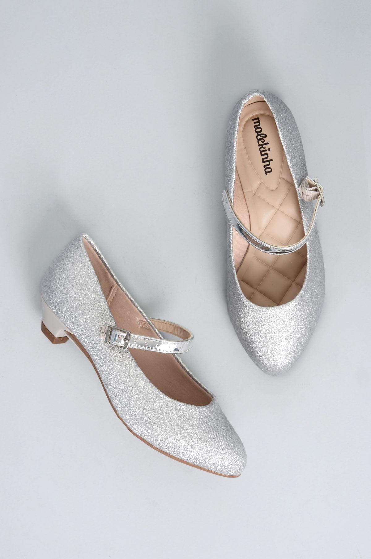 8ae266f08e Sapato Infantil Molekinha Poly DIVERSOS - PRATA - Mundial Calçados