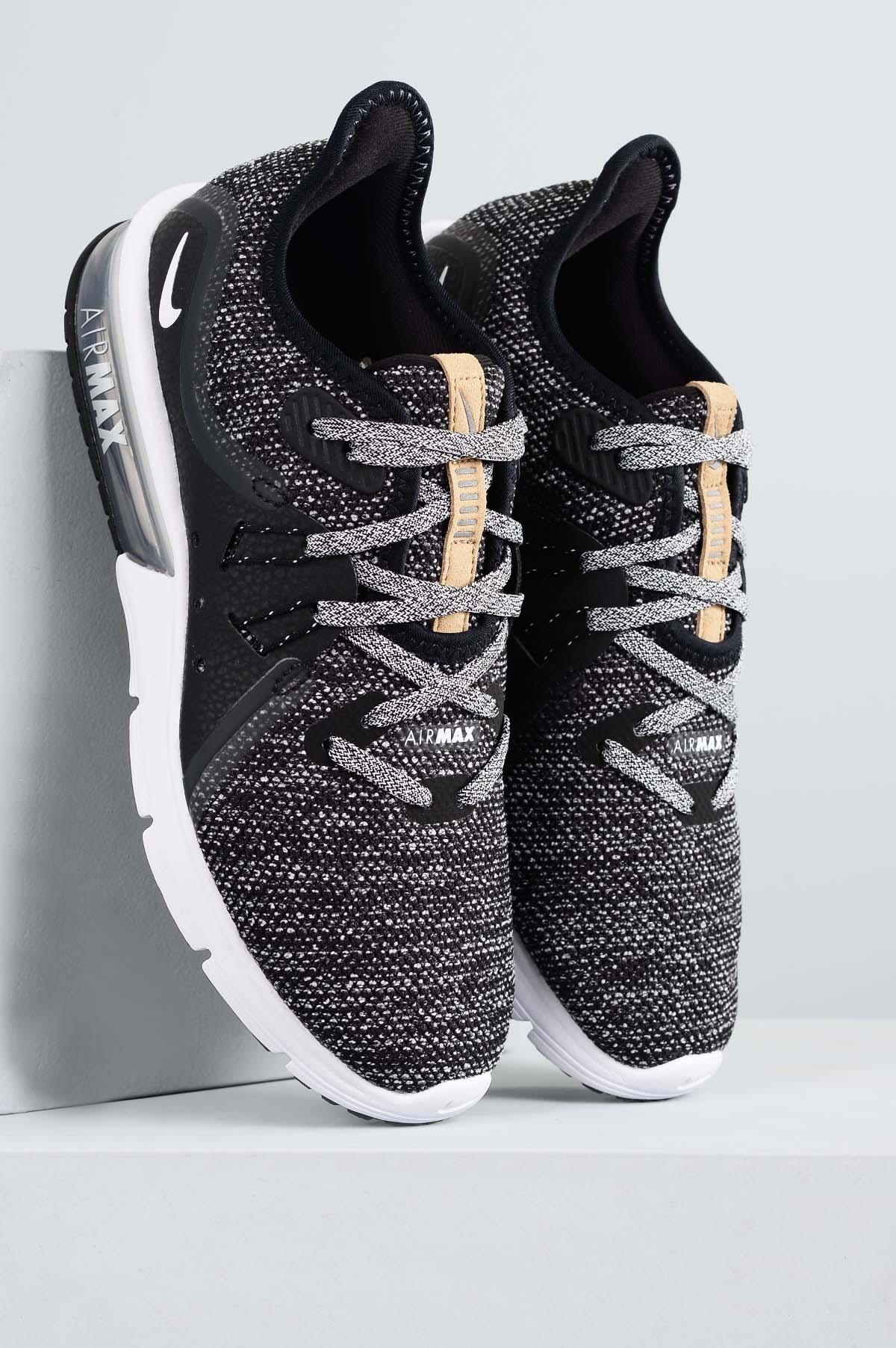 67dad9017e Tênis Feminino Nike Air Max Sequent 3 TEC - PRETO - Mundial Calçados
