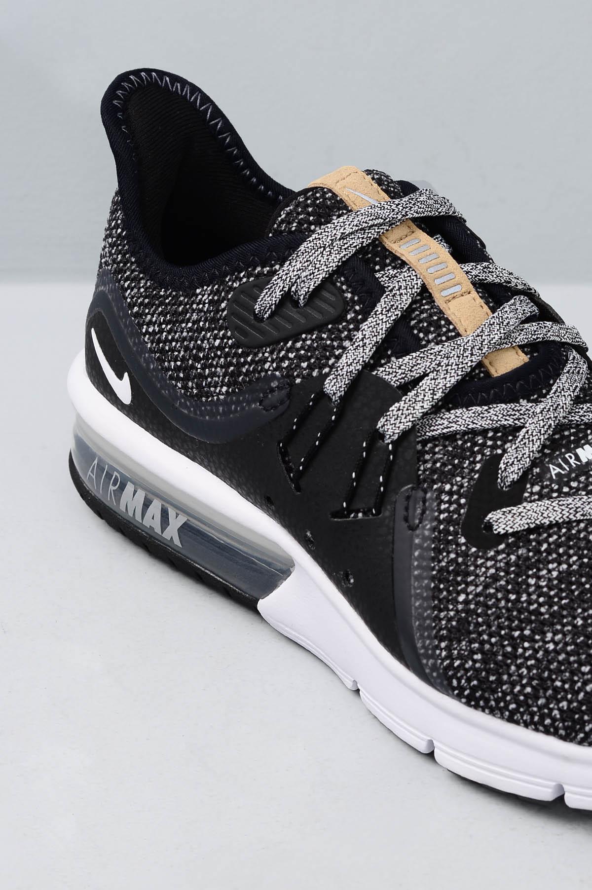 83bc06fe2 Tênis Feminino Nike Air Max Sequent 3 TEC - PRETO - Mundial Calçados