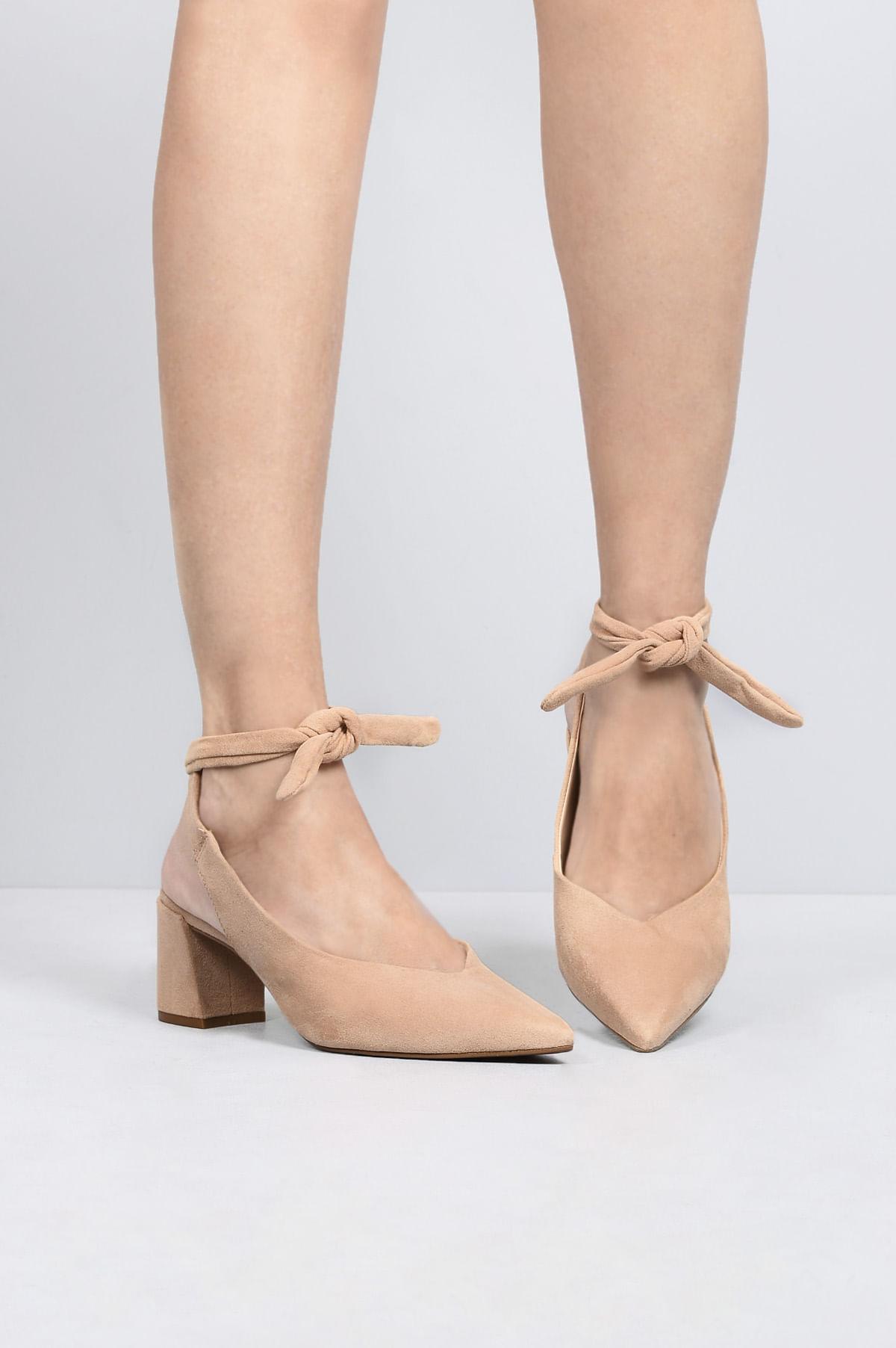 80385bdd9 Sapato Feminino Salto Médio Miley Mundial CAM - NUDE - Mundial Calçados