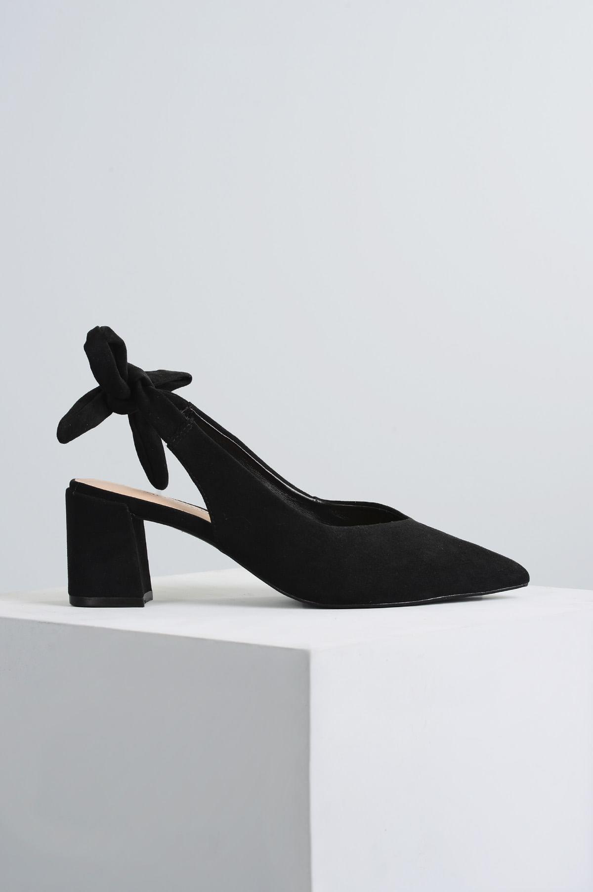 5d9f1c954 Sapato Feminino Salto Médio Miley Mundial CAM - PRETO - Mundial Calçados