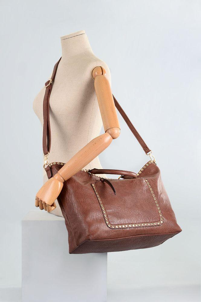 Bolsa Feminina Gash Lemy SINT - MARRON - Mundial Calçados