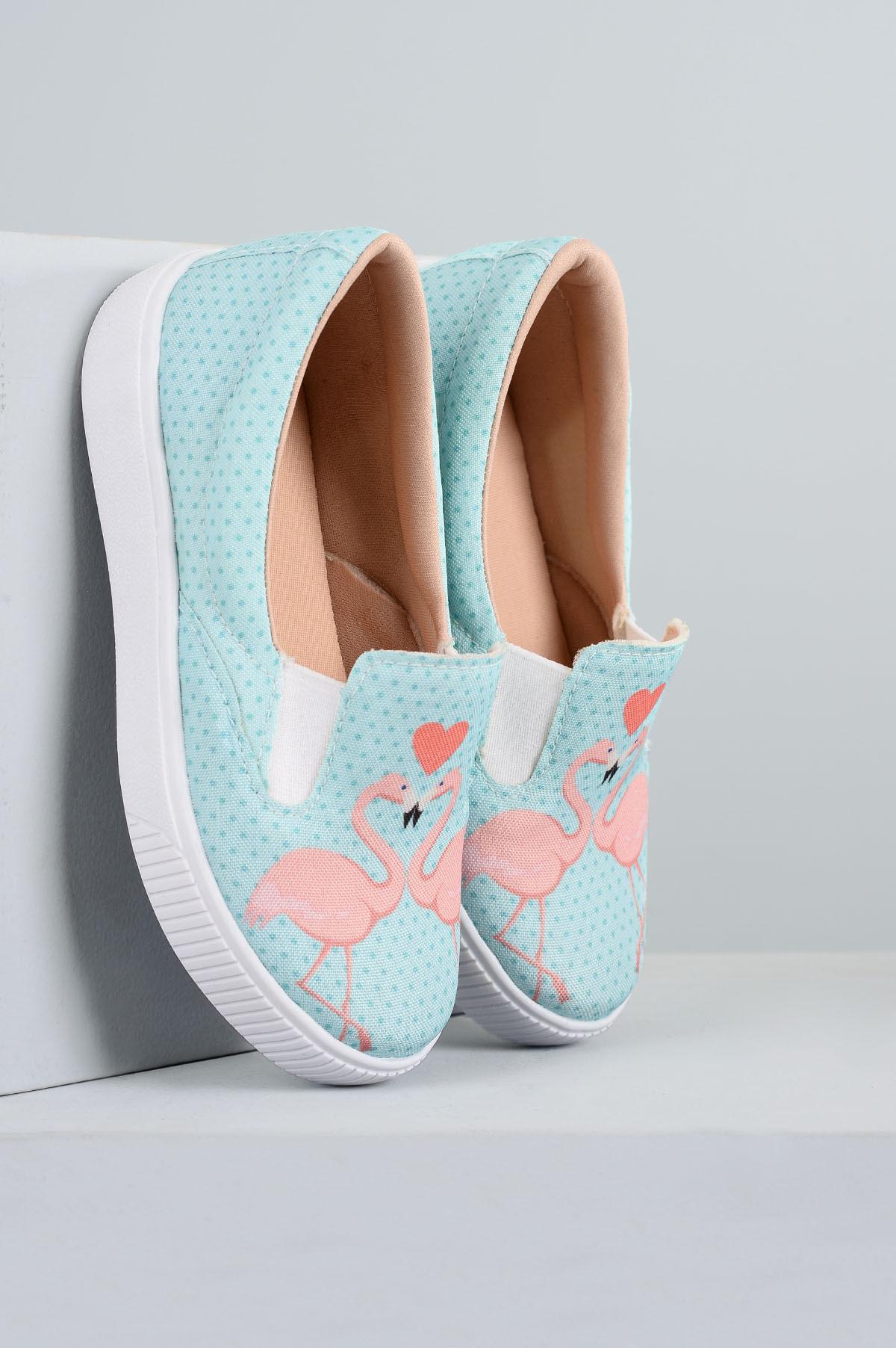 949a67783fa Tênis Infantil Flamingo Menina Fashion SINT - AZUL - Mundial Calçados